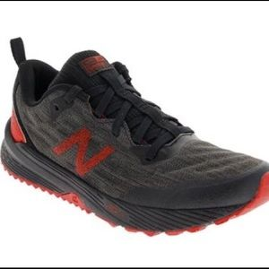 New Balance athletic shoes running trail black red